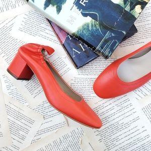 EVERLANE Day Heel Leather Ballet Pump